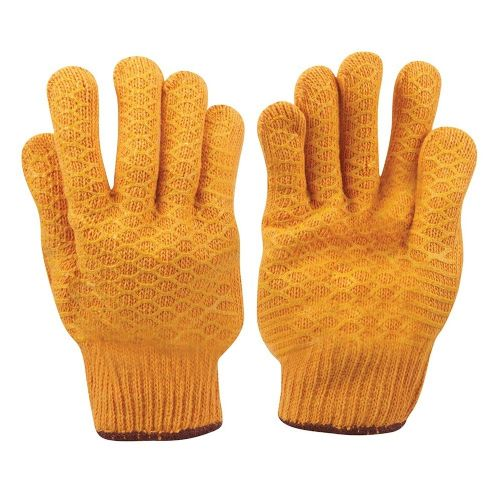 Silverline 349760 Yellow Gripper Safety Work Gloves Large